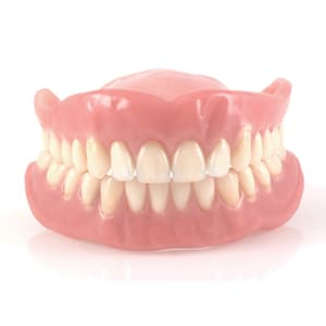An example of dentures